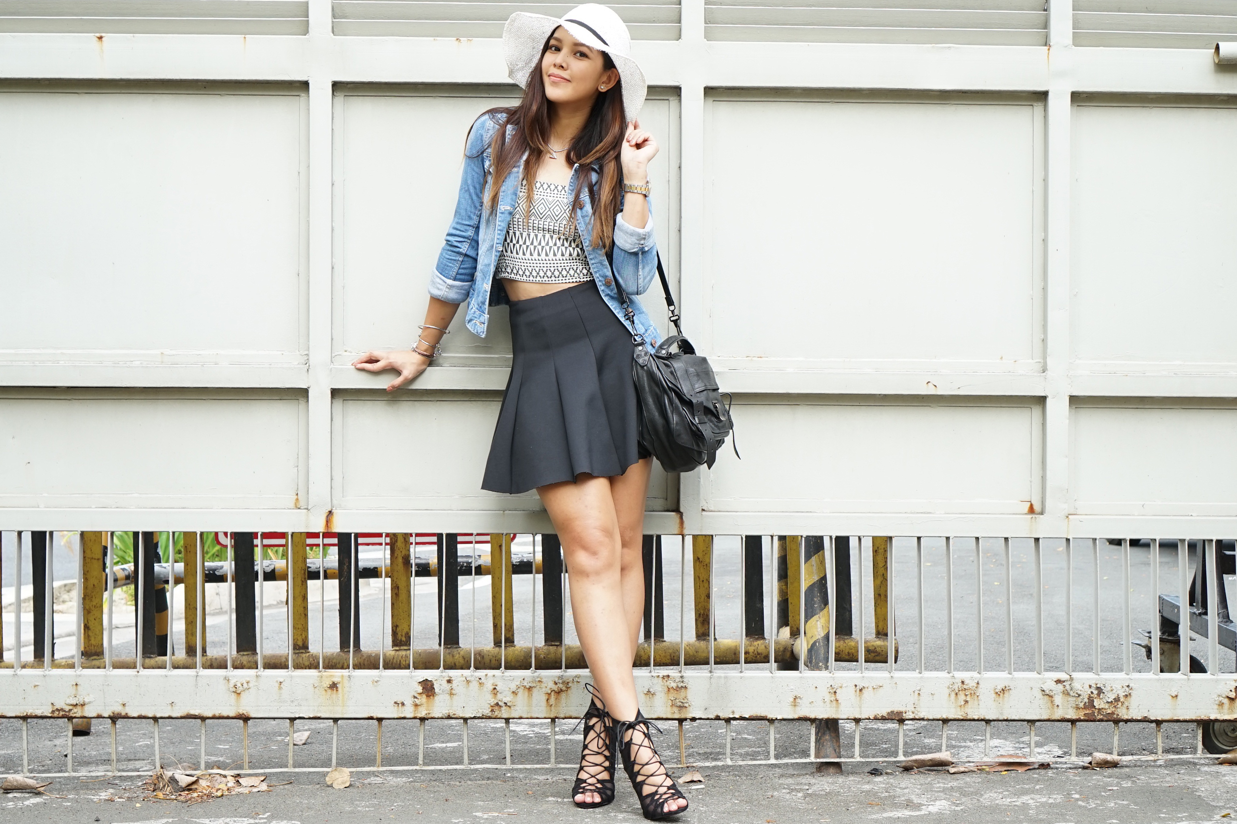 Patricia Pristo Filipina Blogger Black White Denim